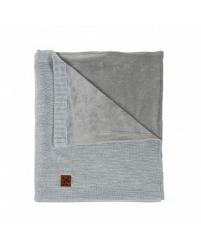 Knitted Gris - Manta de cuna