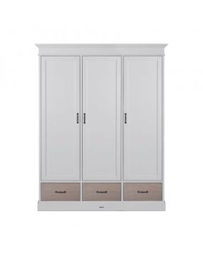 La Première White / Oak - Wardrobe (3 doors)