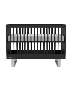 Intense Negro / Acero inoxidable - Cuna 60x120