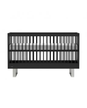 Intense Negro / Acero inoxidable - Cuna cama 70x140