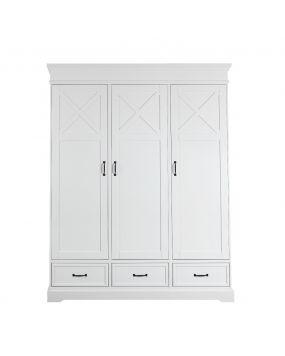 Savona Blanco con cruz - Armario (3 puertas)