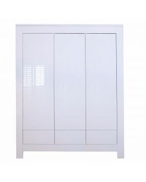 Somero Blanco / Brillante - Armario (3 puertas)