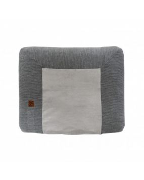 Knitted Antracita - Funda de cambiador 80x65