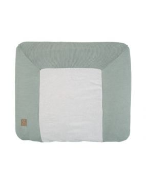 Knitted Stone Green - Funda de cambiador 80x65