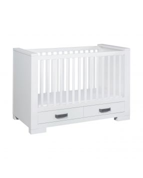 Lodge White - Cot bed with drawers