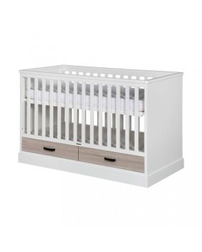 Newport II White / Oak - Cot bed 70x140